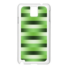 Pinstripes Green Shapes Shades Samsung Galaxy Note 3 N9005 Case (white)