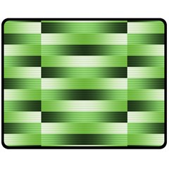Pinstripes Green Shapes Shades Double Sided Fleece Blanket (medium)