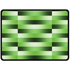 Pinstripes Green Shapes Shades Double Sided Fleece Blanket (large)