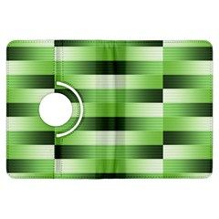 Pinstripes Green Shapes Shades Kindle Fire Hdx Flip 360 Case