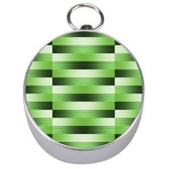 Pinstripes Green Shapes Shades Silver Compasses