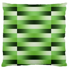 Pinstripes Green Shapes Shades Large Flano Cushion Case (one Side)