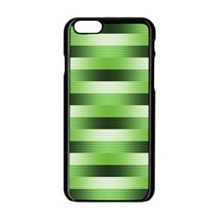 Pinstripes Green Shapes Shades Apple Iphone 6/6s Black Enamel Case