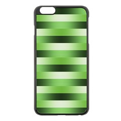 Pinstripes Green Shapes Shades Apple Iphone 6 Plus/6s Plus Black Enamel Case