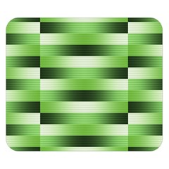 Pinstripes Green Shapes Shades Double Sided Flano Blanket (Small)