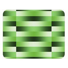 Pinstripes Green Shapes Shades Double Sided Flano Blanket (large)
