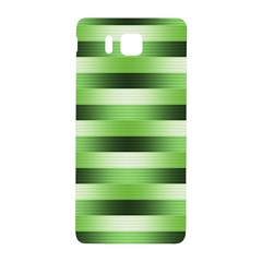 Pinstripes Green Shapes Shades Samsung Galaxy Alpha Hardshell Back Case