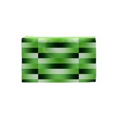 Pinstripes Green Shapes Shades Cosmetic Bag (xs)