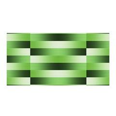 Pinstripes Green Shapes Shades Satin Wrap