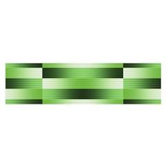 Pinstripes Green Shapes Shades Satin Scarf (oblong)