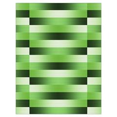 Pinstripes Green Shapes Shades Drawstring Bag (large)