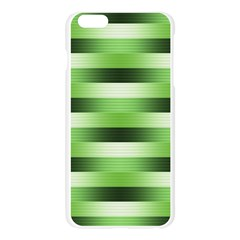 Pinstripes Green Shapes Shades Apple Seamless iPhone 6 Plus/6S Plus Case (Transparent)