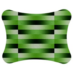 Pinstripes Green Shapes Shades Jigsaw Puzzle Photo Stand (Bow)