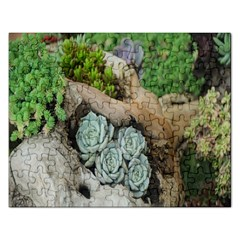 Plant Succulent Plants Flower Wood Rectangular Jigsaw Puzzl