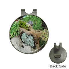 Plant Succulent Plants Flower Wood Hat Clips with Golf Markers