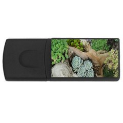 Plant Succulent Plants Flower Wood Usb Flash Drive Rectangular (4 Gb)