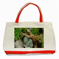 Plant Succulent Plants Flower Wood Classic Tote Bag (Red)