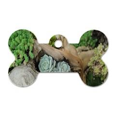 Plant Succulent Plants Flower Wood Dog Tag Bone (One Side)