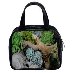Plant Succulent Plants Flower Wood Classic Handbags (2 Sides)