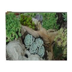 Plant Succulent Plants Flower Wood Cosmetic Bag (XL)