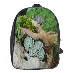 Plant Succulent Plants Flower Wood School Bags(Large)