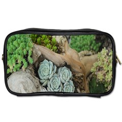 Plant Succulent Plants Flower Wood Toiletries Bags 2 Side
