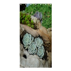 Plant Succulent Plants Flower Wood Shower Curtain 36  x 72  (Stall)