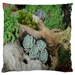 Plant Succulent Plants Flower Wood Large Cushion Case (One Side)