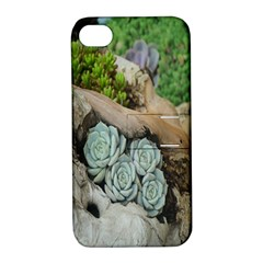 Plant Succulent Plants Flower Wood Apple Iphone 4/4s Hardshell Case With Stand