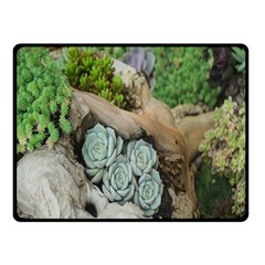 Plant Succulent Plants Flower Wood Double Sided Fleece Blanket (Small)