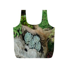 Plant Succulent Plants Flower Wood Full Print Recycle Bags (s)
