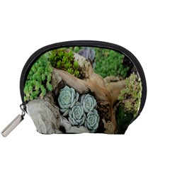 Plant Succulent Plants Flower Wood Accessory Pouches (small)