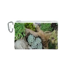 Plant Succulent Plants Flower Wood Canvas Cosmetic Bag (s)