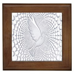 Points Circle Dove Harmony Pattern Framed Tiles