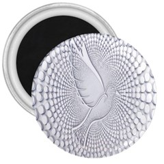 Points Circle Dove Harmony Pattern 3  Magnets