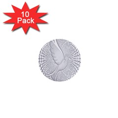 Points Circle Dove Harmony Pattern 1  Mini Buttons (10 Pack)