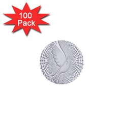Points Circle Dove Harmony Pattern 1  Mini Buttons (100 pack)