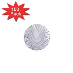 Points Circle Dove Harmony Pattern 1  Mini Magnets (100 pack)