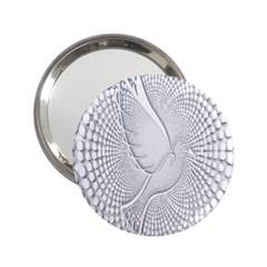 Points Circle Dove Harmony Pattern 2.25  Handbag Mirrors