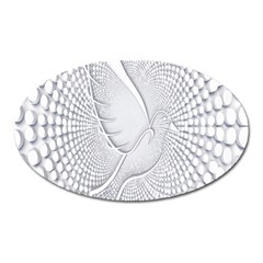 Points Circle Dove Harmony Pattern Oval Magnet