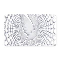 Points Circle Dove Harmony Pattern Magnet (Rectangular)