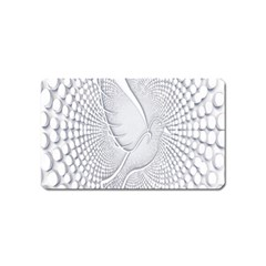 Points Circle Dove Harmony Pattern Magnet (name Card)