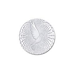 Points Circle Dove Harmony Pattern Golf Ball Marker
