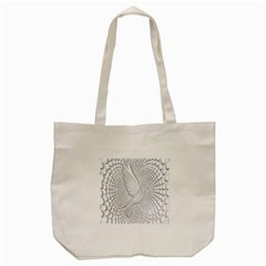 Points Circle Dove Harmony Pattern Tote Bag (cream)