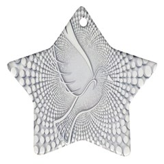 Points Circle Dove Harmony Pattern Star Ornament (Two Sides)