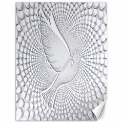 Points Circle Dove Harmony Pattern Canvas 12  x 16