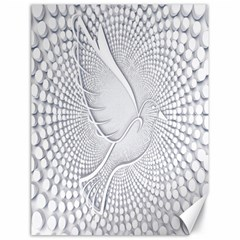 Points Circle Dove Harmony Pattern Canvas 18  x 24