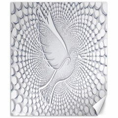 Points Circle Dove Harmony Pattern Canvas 20  X 24