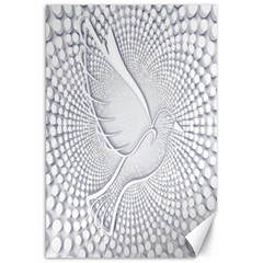 Points Circle Dove Harmony Pattern Canvas 20  x 30