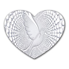 Points Circle Dove Harmony Pattern Heart Mousepads
